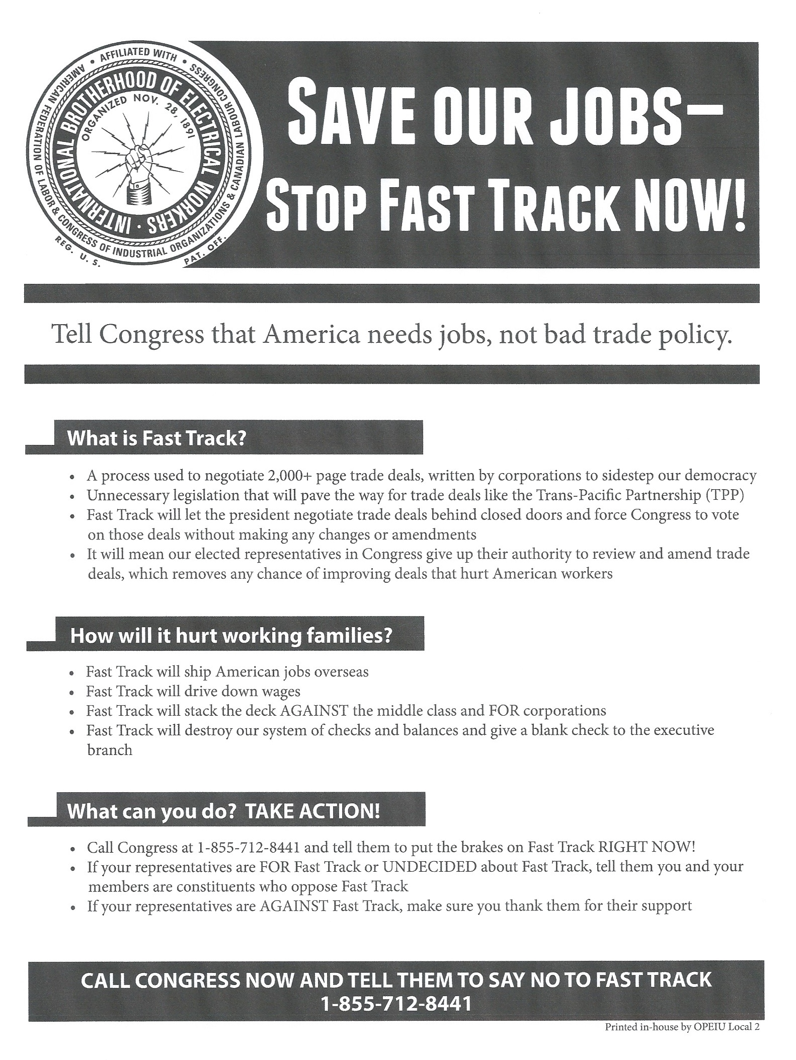 Fast Track flyer