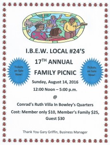 2016 Family Picnic Flyer