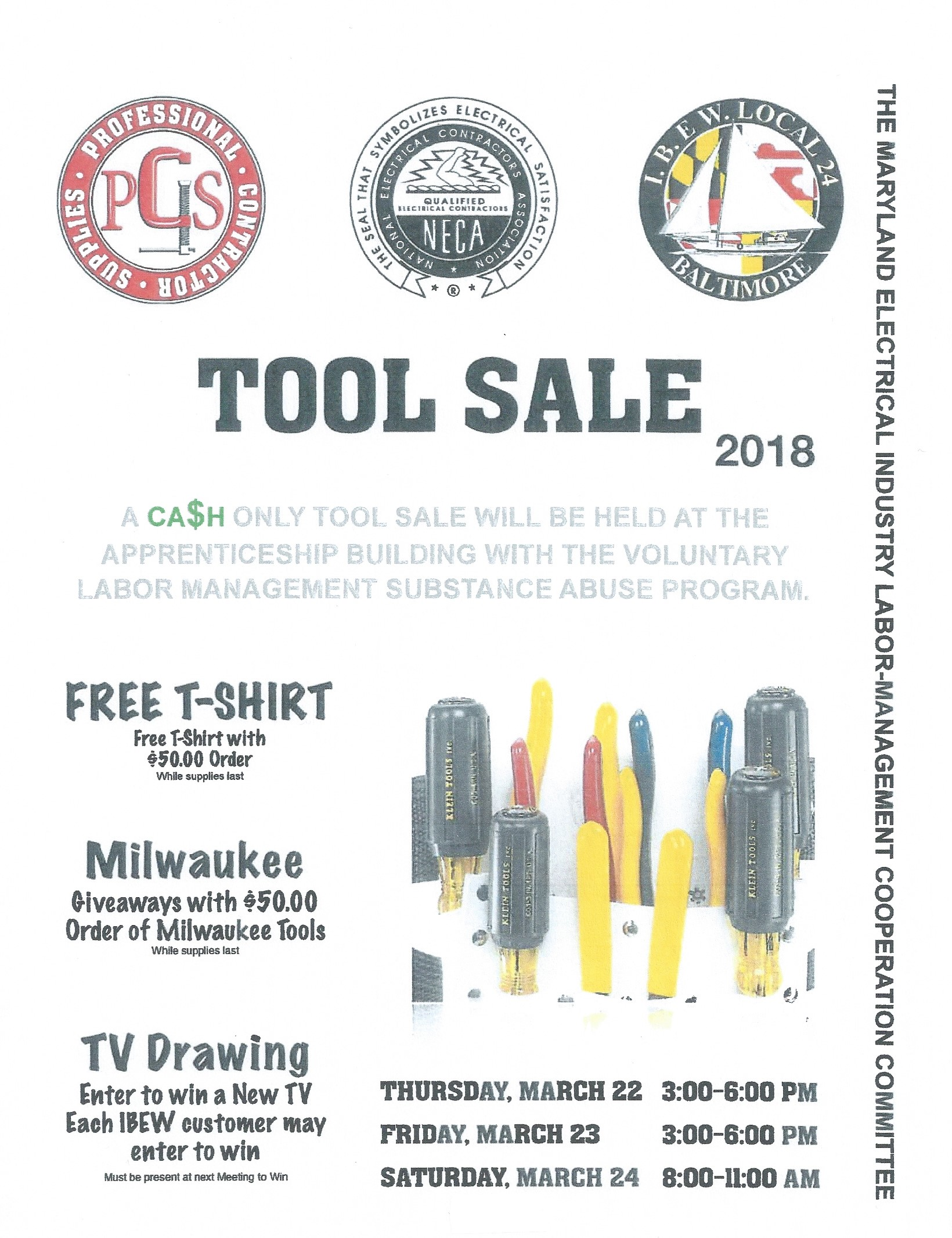 2018 Drug Testing and Tool/Boot Sale