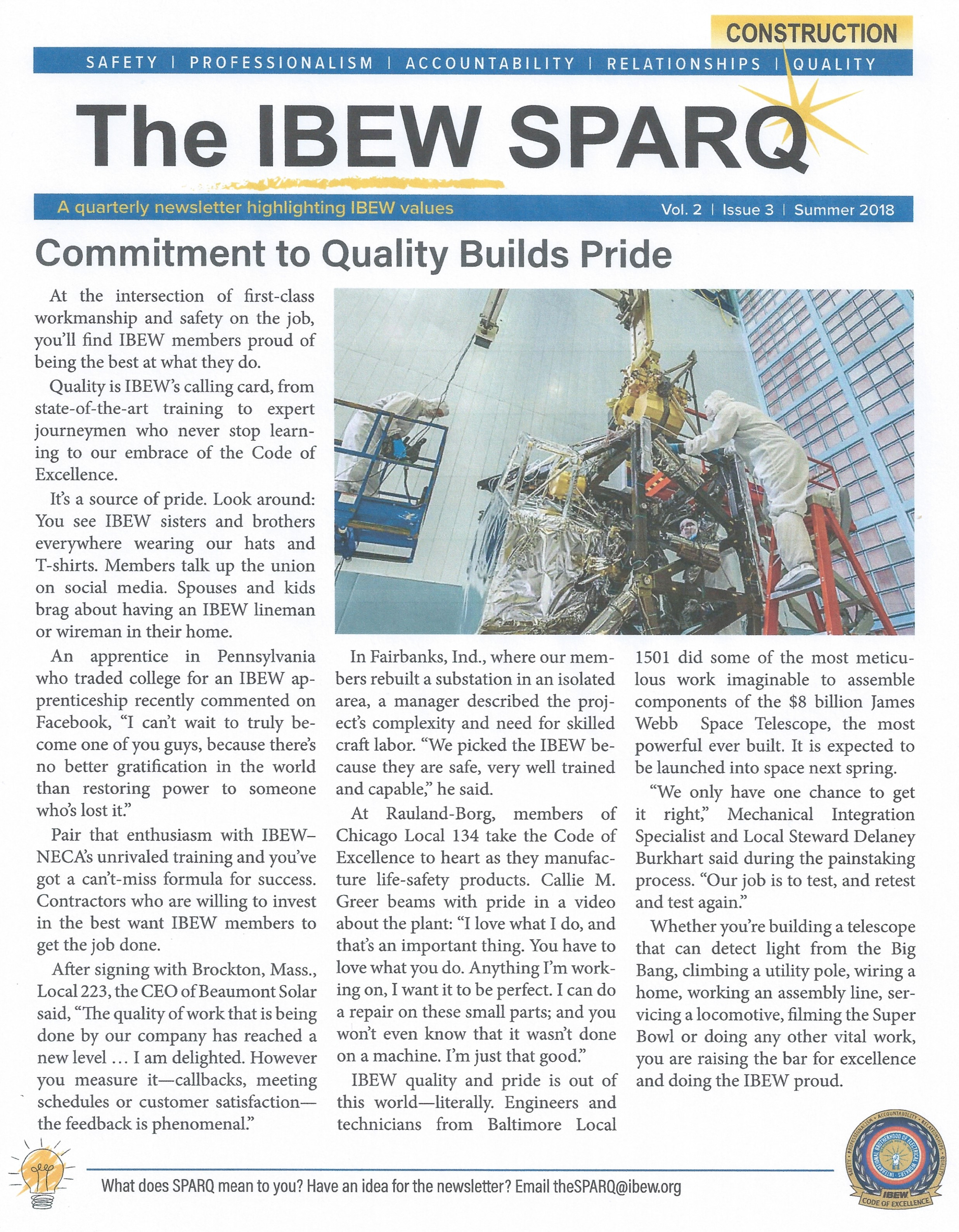 <br /><strong>Latest edition of The SPARQ puts a spotlight on quality.