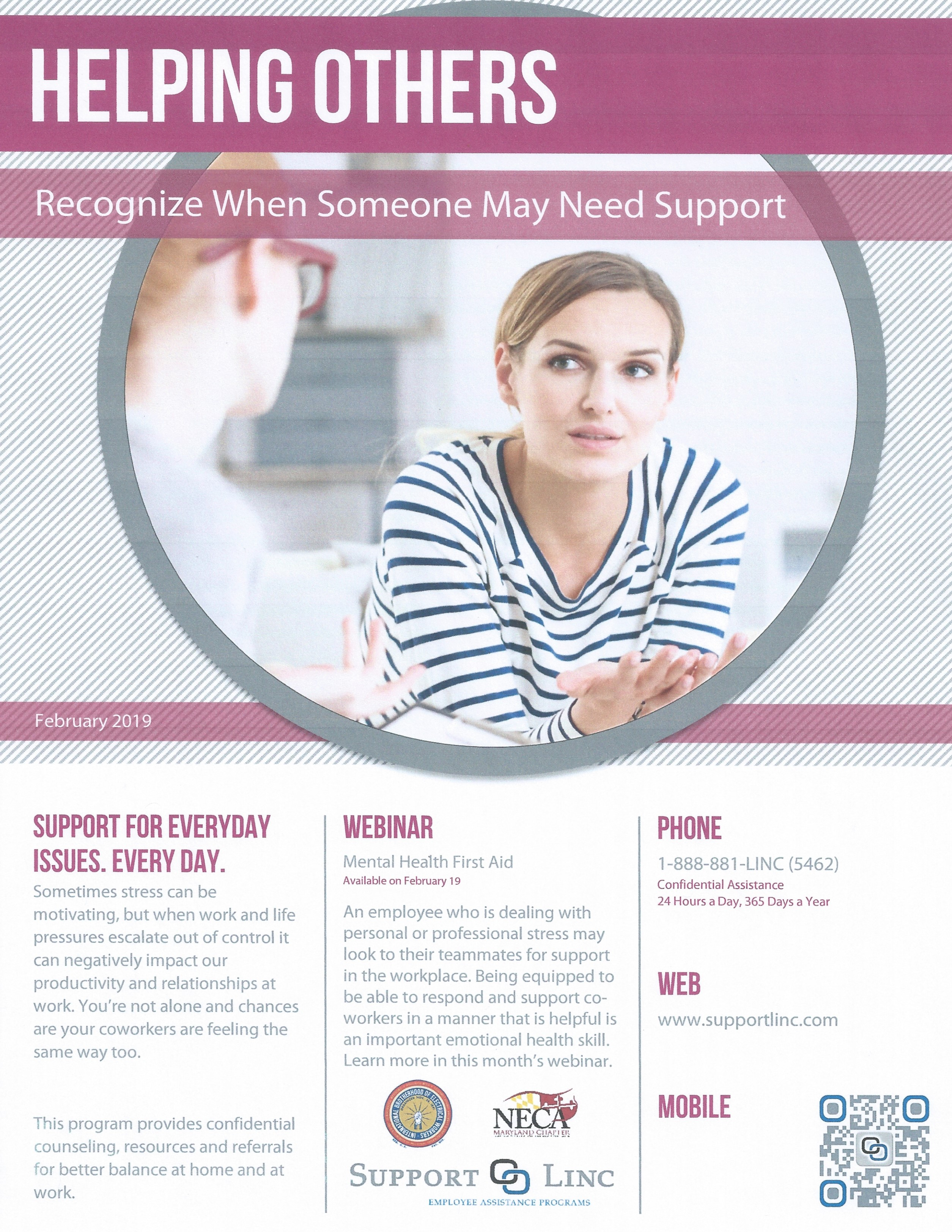 <br /><strong> Have you ever wished you knew what to say or do when a friend or coworker is going through a difficult or stressful situation? Check out the webinar