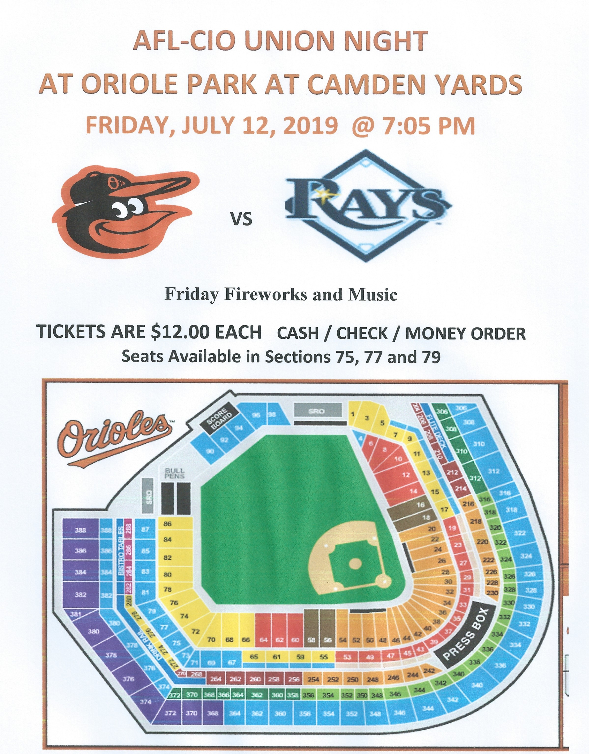 <br><strong>Enjoy a night at the ball park with your family and friends!